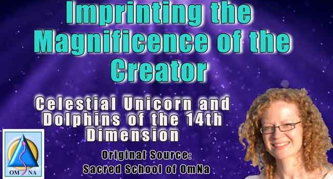 Imprinting the Magnificence of the Creator by the Celestial Unicorns and Dolphins
